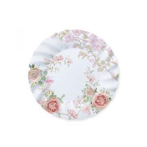 8 Piatti Ø 20 cm Rose Rosa