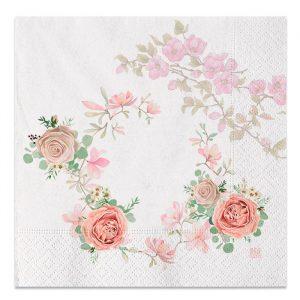20 Tovaglioli 33 x 33 cm Rose Rosa