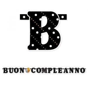Festone Scritta 215 x 15 cm Buon Compleanno Prestige