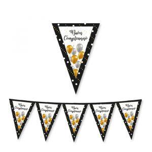 Festone Bandierine in cartoncino 300 x 30 cm Buon Compleanno Prestige