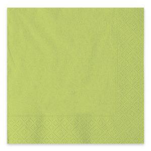 40 Tovaglioli Ecolor 33 x 33 cm 2 Veli Verde Mela