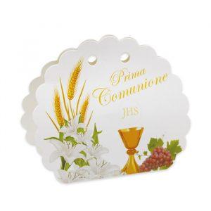 25 Scatoline portaconfetti Ventaglio smerlettato in carta 10 x 9 x 4 cm Comunione Lily