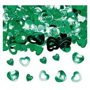Coriandoli in plastica 15 gr Cuore Verde