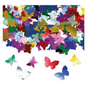 Coriandoli in plastica 15 gr Farfalle