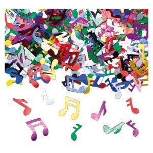 Coriandoli in plastica 15 gr Note Musicali