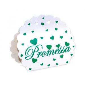 25 Scatoline portaconfetti Ventaglio smerlettato in carta 10 x 9 x 4 cm Promessa