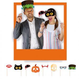 8 Maxi Photo Booth 20 cm Halloween