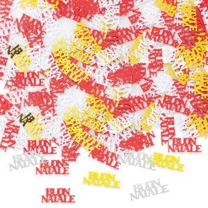 Coriandoli in plastica 15 gr Buon Natale