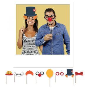 8 Maxi Photo Booth 20 cm Circus Party