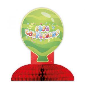 Centrotavola Nido d Ape 28 x 32 cm Buon Compleanno Balloon