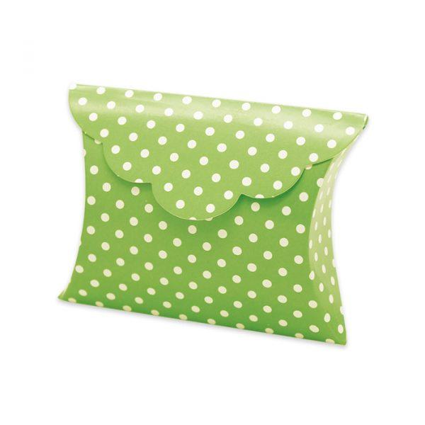25 Scatoline portaconfetti Busta in carta 10 x 8 x 3 cm Pois Verde Mela