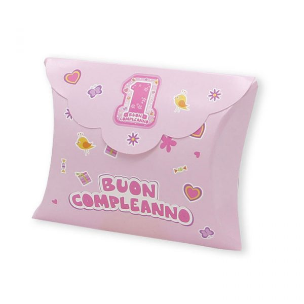 25 Scatoline portaconfetti Busta in carta 10 x 8 x 3 cm One Pink