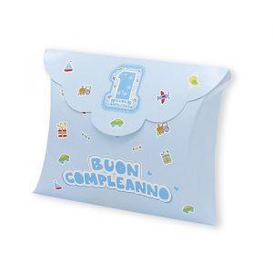 25 Scatoline portaconfetti Busta in carta 10 x 8 x 3 cm One Light Blu