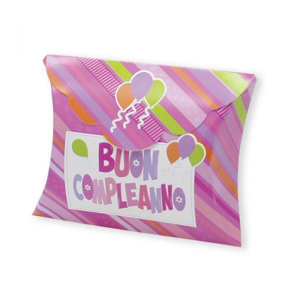 25 Scatoline portaconfetti Busta in carta 10 x 8 x 3 cm Buon Compleanno Rosa