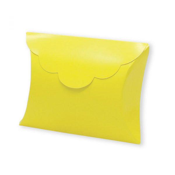25 Scatoline portaconfetti Busta in carta 10 x 8 x 3 cm Gialle