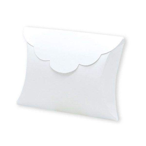 25 Scatoline portaconfetti Busta in carta 10 x 8 x 3 cm Bianche