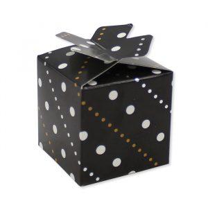 25 Scatoline portaconfetti Cubetto con Fiocco in carta 5 x 7 x 5 cm Prestige