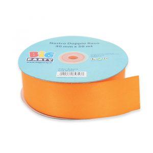 Nastro Doppio Raso 40 mm x 50 mt Arancio