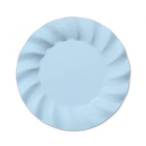 8 Piatti Ø 25 cm Wavy Soft Blu