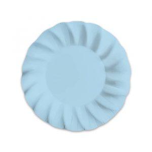 6 Piatti Fondi Ø 24 cm Wavy Soft Blu