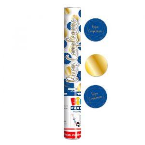 Cannon Sparacoriandoli 30 cm Buon Compleanno Blue Gold
