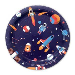 8 Piatti Ø 24 cm Astronaut
