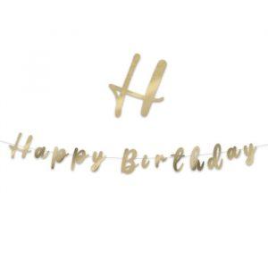 Festone Scritta Italic 300 x 15 cm Happy Birthday