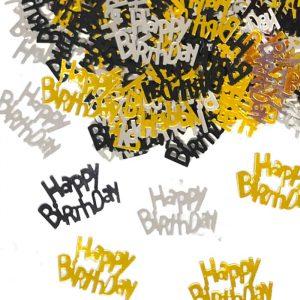 Coriandoli in plastica 15 gr Happy Birthday