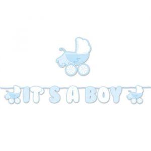Festone Kit Scritta Maxi 600 x 25 cm It's a Boy