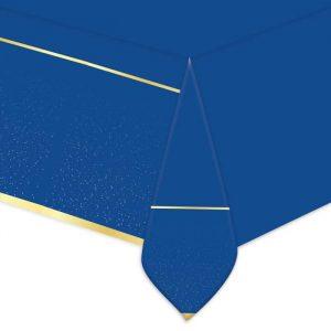 Tovaglia in plastica 140 x 270 cm Blue Gold