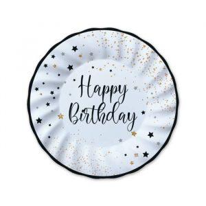 8 Piatti Ø 20 cm Happy Birthday
