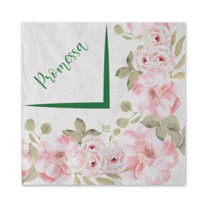 20 Tovaglioli 25 x 25 cm Promessa Floral
