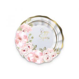 8 Piatti Ø 20 cm Oggi Sposi Floral