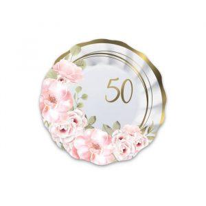 8 Piatti Ø 20 cm 50° Anniversario Floral
