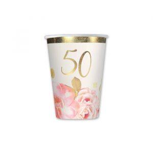 8 Bicchieri 200 cc 50° Anniversario Floral